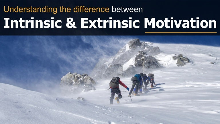 difference between intrinsic and extrinsic motivation pdf