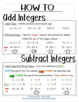adding and subtracting integers worksheets grade 7 pdf