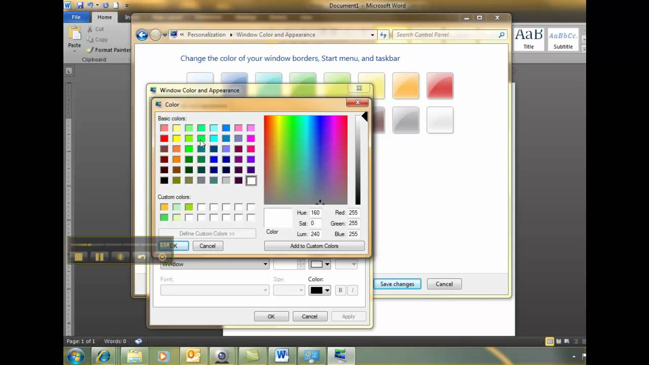 how to change background color pdf