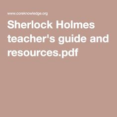 sherlock holmes the sign of four pdf
